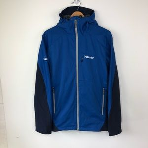 Marmot Gore Windstopper Zip Up Jacket 3M Blue L